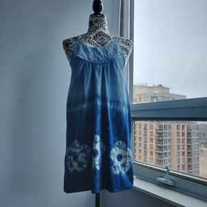 Dresses & Skirts - Tie Dye Lace Sleeveless Blue Gradient Summer Dress